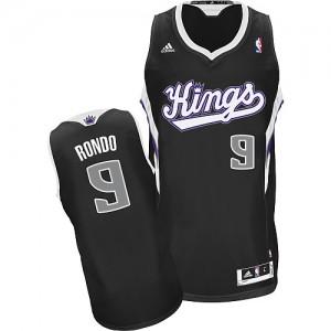 Maillot NBA Noir Rajon Rondo #9 Sacramento Kings Alternate Swingman Homme Adidas