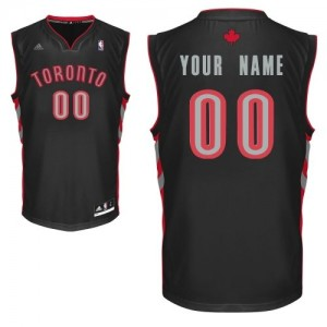 Maillot Adidas Noir Alternate Toronto Raptors - Swingman Personnalisé - Femme