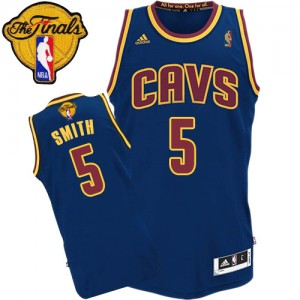 Maillot Authentic Cleveland Cavaliers NBA CavFanatic 2015 The Finals Patch Bleu marin - #5 J.R. Smith - Homme
