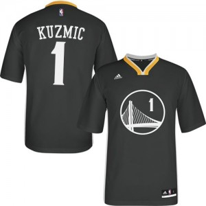 Maillot Adidas Noir Alternate Authentic Golden State Warriors - Ognjen Kuzmic #1 - Homme