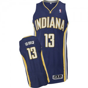 Maillot NBA Bleu marin Paul George #13 Indiana Pacers Road Authentic Homme Adidas