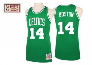Maillot Mitchell and Ness Vert Throwback Authentic Boston Celtics - Bob Cousy #14 - Homme