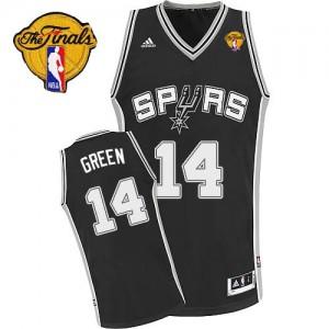 San Antonio Spurs #14 Adidas Road Finals Patch Noir Swingman Maillot d'équipe de NBA Vente pas cher - Danny Green pour Homme