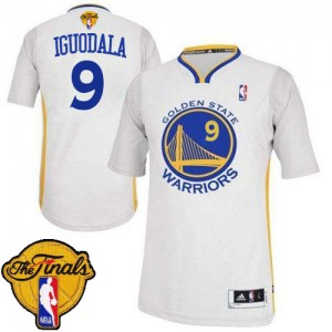 Maillot Authentic Golden State Warriors NBA Alternate 2015 The Finals Patch Blanc - #9 Andre Iguodala - Homme