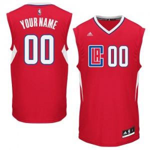 Los Angeles Clippers Personnalisé Adidas Road Rouge Maillot d'équipe de NBA pas cher - Swingman pour Homme