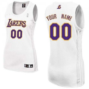 Maillot Los Angeles Lakers NBA Alternate Blanc - Personnalisé Authentic - Femme