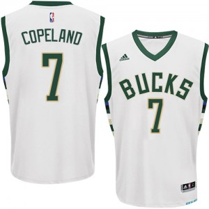 Maillot NBA Authentic Chris Copeland #7 Milwaukee Bucks Home Blanc - Homme