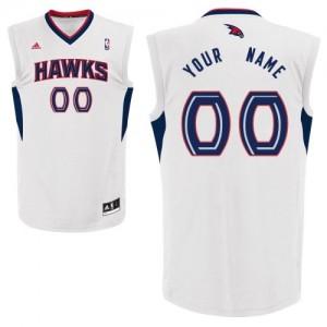 Atlanta Hawks Swingman Personnalisé Home Maillot d'équipe de NBA - Blanc pour Enfants