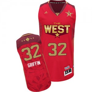 Maillot Authentic Los Angeles Clippers NBA 2011 All Star Rouge - #32 Blake Griffin - Homme