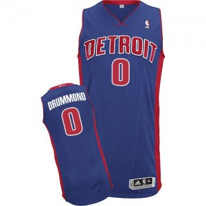 Maillot NBA Detroit Pistons #0 Andre Drummond Bleu royal Adidas Authentic Road - Homme