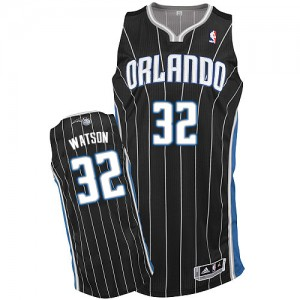 Orlando Magic C.J. Watson #32 Alternate Authentic Maillot d'équipe de NBA - Noir pour Homme