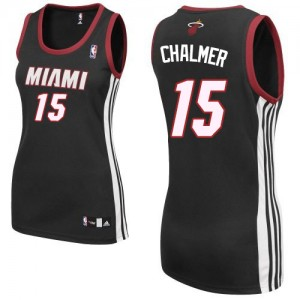 Maillot Authentic Miami Heat NBA Road Noir - #15 Mario Chalmer - Femme