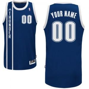 Maillot NBA Swingman Personnalisé Oklahoma City Thunder Alternate Bleu marin - Homme