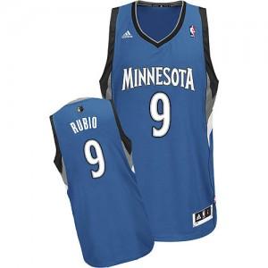 Minnesota Timberwolves #9 Adidas Road Slate Blue Swingman Maillot d'équipe de NBA Soldes discount - Ricky Rubio pour Homme