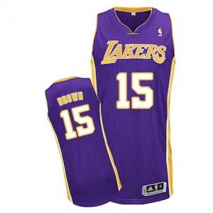 Los Angeles Lakers #15 Adidas Road Violet Authentic Maillot d'équipe de NBA sortie magasin - Jabari Brown pour Homme
