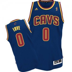 Cleveland Cavaliers Kevin Love #0 Swingman Maillot d'équipe de NBA - Bleu marin pour Enfants
