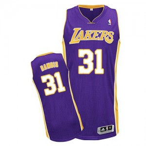 Maillot Adidas Violet Road Authentic Los Angeles Lakers - Kurt Rambis #31 - Homme