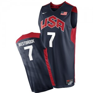 Maillots de basket Authentic Team USA NBA 2012 Olympics Bleu marin - #7 Russell Westbrook - Homme