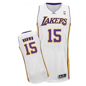 Los Angeles Lakers #15 Adidas Alternate Blanc Authentic Maillot d'équipe de NBA vente en ligne - Jabari Brown pour Homme