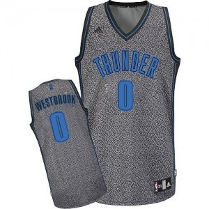 Maillot Swingman Oklahoma City Thunder NBA Static Fashion Gris - #0 Russell Westbrook - Homme