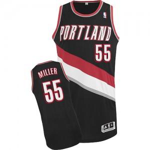 Portland Trail Blazers Mike Miller #55 Road Authentic Maillot d'équipe de NBA - Noir pour Homme