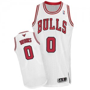 Maillot NBA Authentic Aaron Brooks #0 Chicago Bulls Home Blanc - Homme