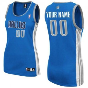 Maillot NBA Dallas Mavericks Personnalisé Authentic Bleu royal Adidas Road - Femme