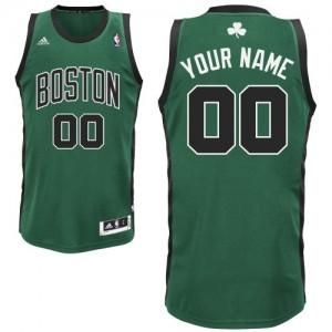 Boston Celtics Swingman Personnalisé Alternate Maillot d'équipe de NBA - Vert (No. noir) pour Enfants