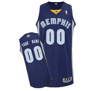 Maillot Memphis Grizzlies NBA Road Bleu marin - Personnalisé Authentic - Enfants