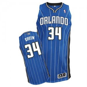 Maillot NBA Orlando Magic #34 Willie Green Bleu royal Adidas Authentic Road - Homme