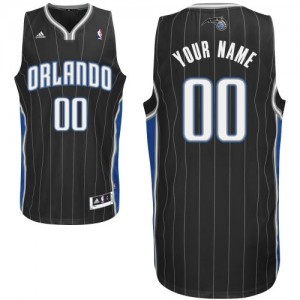 Maillot NBA Swingman Personnalisé Orlando Magic Alternate Noir - Enfants