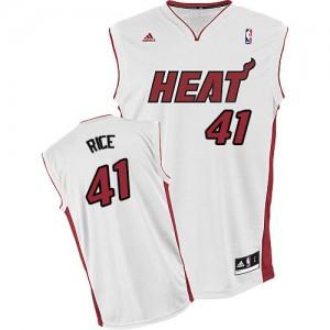 Miami Heat #41 Adidas Home Blanc Swingman Maillot d'équipe de NBA en ligne pas chers - Glen Rice pour Homme