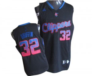 Maillot Authentic Los Angeles Clippers NBA Vibe Noir - #32 Blake Griffin - Homme