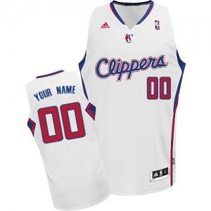 Los Angeles Clippers Personnalisé Adidas Home Blanc Maillot d'équipe de NBA Promotions - Swingman pour Enfants