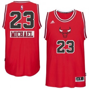Chicago Bulls Michael Jordan #23 2014-15 Christmas Day Authentic Maillot d'équipe de NBA - Rouge pour Homme