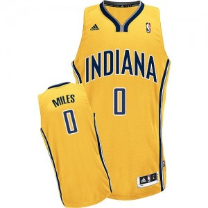 Maillot NBA Or C.J. Miles #0 Indiana Pacers Alternate Swingman Homme Adidas