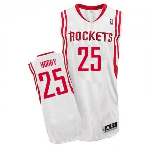 Maillot NBA Houston Rockets #25 Robert Horry Blanc Adidas Authentic Home - Homme