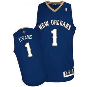 New Orleans Pelicans Tyreke Evans #1 Road Authentic Maillot d'équipe de NBA - Bleu marin pour Homme