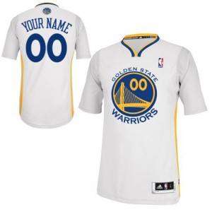 Maillot NBA Blanc Authentic Personnalisé Golden State Warriors Alternate Homme Adidas