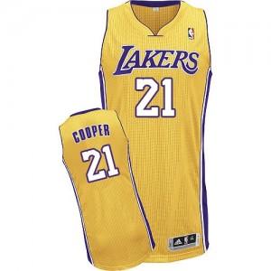 Los Angeles Lakers #21 Adidas Home Or Authentic Maillot d'équipe de NBA en ligne - Michael Cooper pour Homme