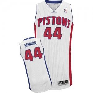 Detroit Pistons #44 Adidas Home Blanc Authentic Maillot d'équipe de NBA pas cher - Rick Mahorn pour Homme