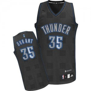 Maillot NBA Authentic Kevin Durant #35 Oklahoma City Thunder Rhythm Fashion Noir - Homme