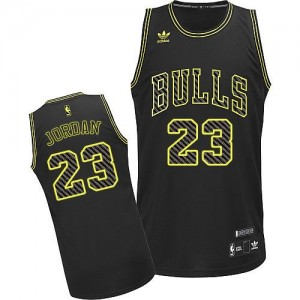 Chicago Bulls Michael Jordan #23 Electricity Fashion Swingman Maillot d'équipe de NBA - Noir pour Homme