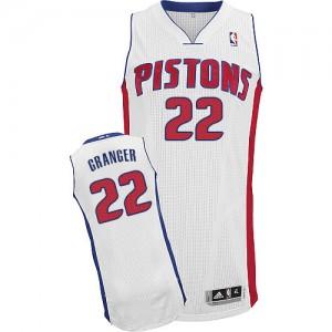 Maillot NBA Blanc Danny Granger #22 Detroit Pistons Home Authentic Homme Adidas