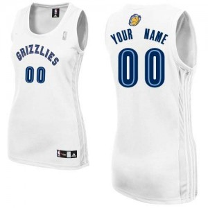 Maillot Memphis Grizzlies NBA Home Blanc - Personnalisé Authentic - Femme