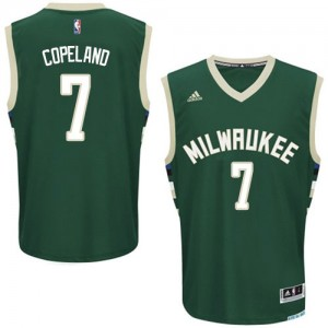 Maillot NBA Swingman Chris Copeland #7 Milwaukee Bucks Road Vert - Homme