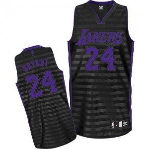 Maillot Adidas Gris noir Groove Authentic Los Angeles Lakers - Kobe Bryant #24 - Homme