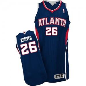 Atlanta Hawks #26 Adidas Road Bleu marin Authentic Maillot d'équipe de NBA magasin d'usine - Kyle Korver pour Homme