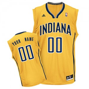 Indiana Pacers Personnalisé Adidas Alternate Or Maillot d'équipe de NBA Discount - Swingman pour Homme