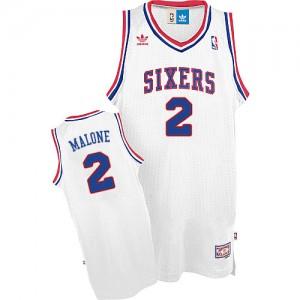 Maillot NBA Swingman Moses Malone #2 Philadelphia 76ers Throwback Blanc - Homme